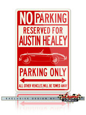 Austin Healey 3000 MKIII Roadster Reserved Parking Sign - 12x18 or 8x12 Aluminum