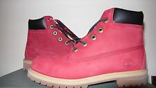 """Timberland 6"""" Boot Ruby Red Villa Black Wheat Tims 6598R GS Kids Size 5C-7Y"""