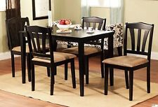 Dining Set 5 Piece Wood Breakfast Furniture 4 Chairs and Table Kitchen Dinette