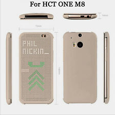 HTC Dot View App Flip Cases Phone Covers Shell Skins Bumper for HTC ONE M8 New