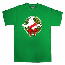 Ghostbusters Wreath Merry Christmas Xmas Ugly Sweater T-shirt Onsie S-XXXXXL