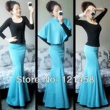 Sexy Slim Stretch High Hip Mermaid Fishtail Female Long Maxi Skirts with womens