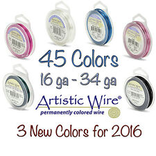 Artistic Wire 45 COLORS Tarnish Resistant Wire (10 Sizes)