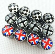 4x Union Jack British Flag Chrome Tire Valve Stem Cap Cover for Mini Cooper 7mm
