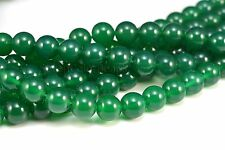 green agate, smooth round, natural bead, 6-14mm, loose bead, stone bead