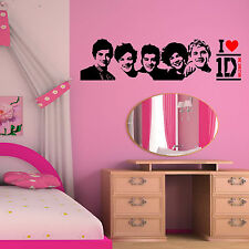 ONE DIRECTION wall art vinyl room sticker transfer decal 1D MUSIC Group Band
