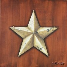"JON109 Barn Star John Sliney 12""x12"" framed or unframed country art print folk"