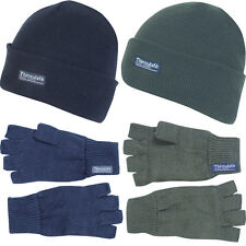 Jack Pyke One Size Thinsulate Hat and Pair of Fingerless Gloves Set Winter Xmas