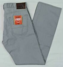 Dockers NEW Men's Gray Straight Fit Stretch 5-Pocket Pants MSRP $58