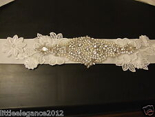 Wedding bridal Sash,Bridal dress belt bridal accessory CRYSTAL PEARL MOTIF belt