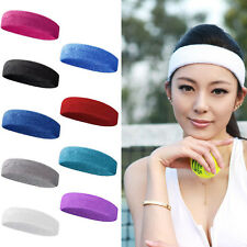 Hot Sale Unisex Sports Sweat sweatband Headband Yoga Gym Stretch Head Hair Band
