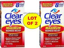 Clear Eyes Maximum Redness Relief Eye Drops Maximum Relief without Prescription
