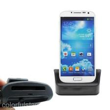 Lot Black Battery Case Sync Charger Cradle Dock Mount fr Samsung Galaxy S4 I9500