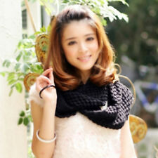Cool Women Ladies Knitted Yarn Cowl Wool Corn Scarf Shawl Wrap Loop Winter New