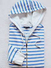 NWT Tommy Hilfiger Womens Striped Logo Zip Hoodie