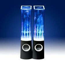 DANCING WATER SPEAKERS MUSIC FOUNTAIN LED JET LIGHT IPOD IPHONE IPAD WHITE BLACK