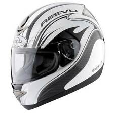 Reevu MSX1 Carbon Effect Graphic Rear View Motorcycle Bike Scooter Helmet