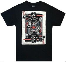 Star Wars: Darth Vader 'D of Spades Playing Card' Distressed T-Shirt Size: S-3XL