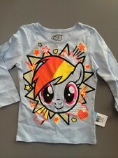 NWT New Girl's Mini Fine My Little Pony T Shirt Blue Long Sleeve Size 2T 3T 4 5
