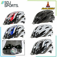 RALEIGH MISSION ADULTS MENS WOMENS MOUNTAIN ROAD BIKE HELMET WITH BUILT IN LIGHT