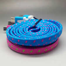 Rapid Charge Braided Micro USB Cable For Galaxy  S4 S3 S2 Note II III Colorful