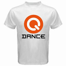 New Q DANCE Logo Dubstyle Techno Electro Music Men's White T-Shirt Size S to 2XL