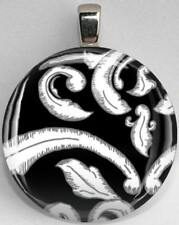 Handmade Interchangeable Magnetic Black and White Patterns #14 Pendant Necklace