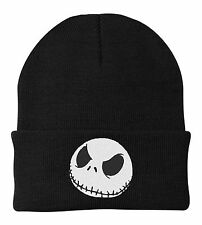 NEW Jack Skellington Face Beanie Nightmare Before Christmas One Size Fits Most