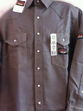 FR Rasco Gray Heavyweight  10 oz. Flame Resistant Snap Down Work SHIRT  NWT