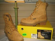 "Carolina 8"" Waterproof Insulated Plain Toe Logger Boots CA5826 - NEW IN BOX"