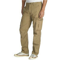 Levi's Pants, Ace Cargo Relaxed Fit Harvest Gold Beige Men's 100% Cotton Pants