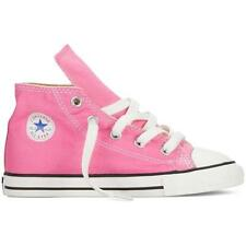 NEW INFANT TODDLER GIRLS CONVERSE ALL STAR CHUCK TAYLOR HI TOPS (PINK) RRP:$60