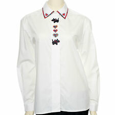 Womens BAXTER & WELLS Red Poodle Blouse-Long Sleeves