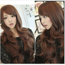 Fashion Curly Wavy Hair Women's Ladies Sexy Long Cosplay Full Wig Wigs+Free Caps