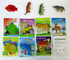 LOT OF 30 , 60 PC--COLORED GROWING ANIMAL IN WATER   10 ANIMAL MIXED--AA018