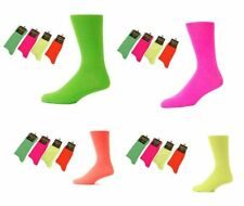 MENS SOCKS TEDDY BOY NEON SOCKS 6-11 PINK, ORANGE, YELLOW, PINK, NEON.