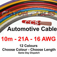 10m AUTO CABLE, 21 AMP CAR WIRING LOOM WIRE, 21A AUTOMOTIVE Kit  - 12 Colours