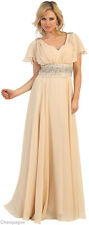 NEW MODERN MOTHER OF THE BRIDE GROOM DRESS FORMAL EVENING GOWN SPECIAL OCCASION