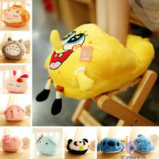 10 styles animation Monchhchi Plush Shape Soft Slippers Adult throw pilllow