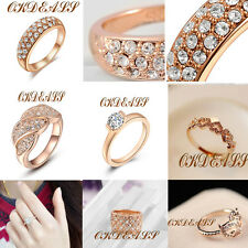 Multiple Styles Gold Plated Wedding Ring Made With Genuine Austrian Crystal