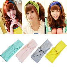 Hot Lady Cotton Turban Twist Knot Head Wrap Headband Twisted Knotted Hair Band