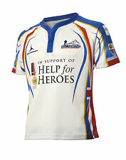 Help for Heroes 65 Degrees North Rugby Shirt  (S-XXXXL) Army / Navy / RAF/ White