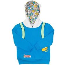 NEW ADVENTURE TIME BLUE HOODIE JACKET SIZE 12,14,16