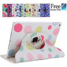 Flower Smart Cover Case 360 Rotating for iPad Air 2