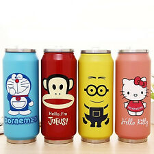 070665 Lovely Funny Cans Stainless Steel Travel Water Coffee Mug Cup Bottle Gift