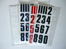 CCM Hockey Helmet Number Decals! NEW Stickers, Ice Inline WHITE BLACK RED BLUE