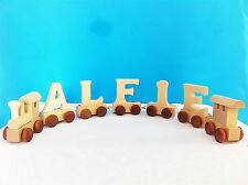 Brand New Wooden Alphabet Train Letters Personalised Name as Children Gift