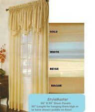 """Solid Sheers Voile Polyester Panels - 60"""" X108 (Ascot Valance Sold Seperatly)"""