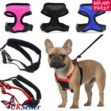 Small Pet Dog Puppy Chihuahua Soft Mesh Fabric Padded Collar Harness Lead Vest