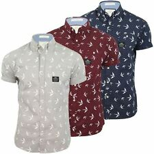 Mens Crosshatch Casual Shirt 'Flighty' Short Sleeve